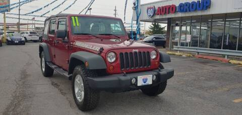 2011 Jeep Wrangler Unlimited for sale at I-80 Auto Sales in Hazel Crest IL
