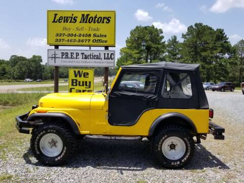 1981 Jeep CJ-5 for sale at Lewis Motors LLC in Deridder LA
