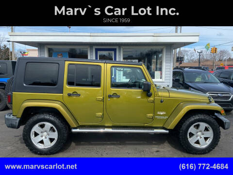 2008 Jeep Wrangler Unlimited for sale at Marv`s Car Lot Inc. in Zeeland MI