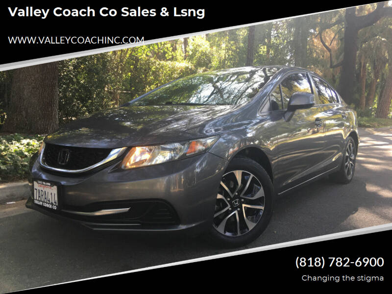 2013 Honda Civic for sale at Valley Coach Co Sales & Lsng in Van Nuys CA