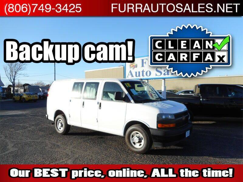 2018 Chevrolet Express Cargo for sale at FURR AUTO SALES in Lubbock TX