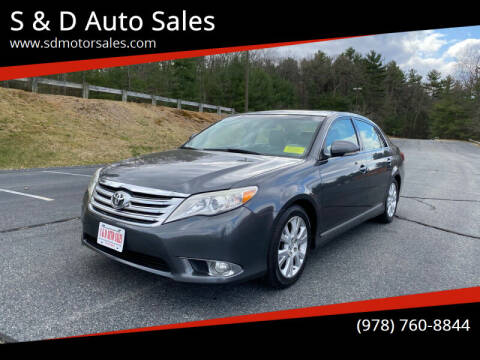 2011 Toyota Avalon for sale at S & D Auto Sales in Maynard MA