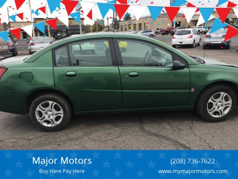2004 Saturn Ion for sale at Major Motors in Twin Falls ID