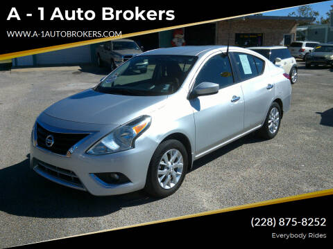 2016 Nissan Versa for sale at A - 1 Auto Brokers in Ocean Springs MS