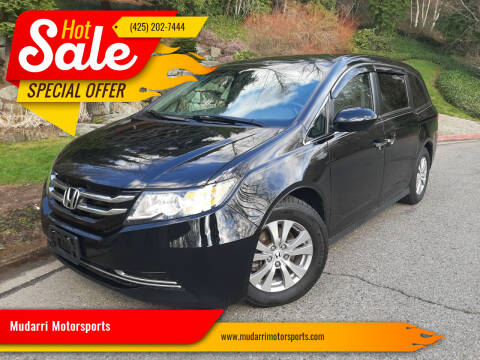 2017 Honda Odyssey for sale at Mudarri Motorsports in Kirkland WA