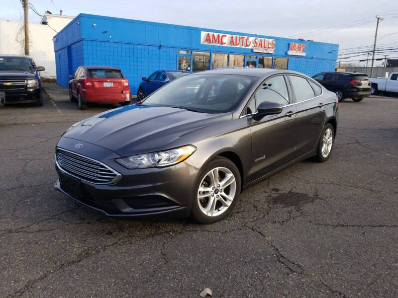 2018 Ford Fusion Hybrid for sale at AMC Auto in Roseville MI