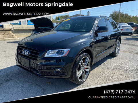 2016 Audi SQ5 for sale at Bagwell Motors Springdale in Springdale AR