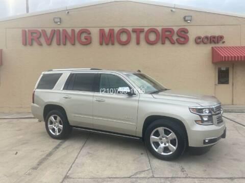 2015 Chevrolet Tahoe for sale at Irving Motors Corp in San Antonio TX