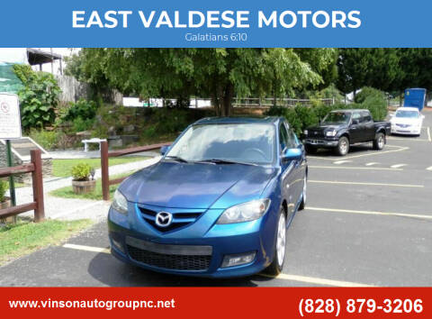 2007 Mazda MAZDA3 for sale at EAST VALDESE MOTORS in Valdese NC