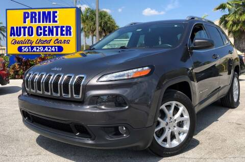 2015 Jeep Cherokee for sale at PRIME AUTO CENTER in Palm Springs FL