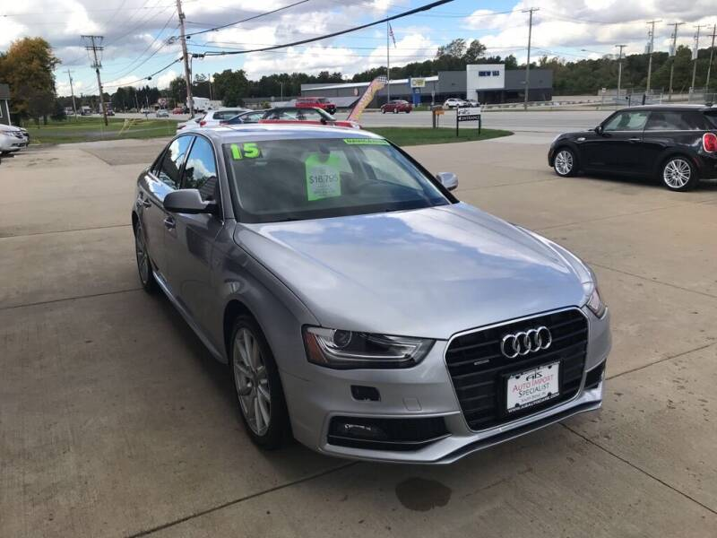2015 Audi A4 for sale at Auto Import Specialist LLC in South Bend IN