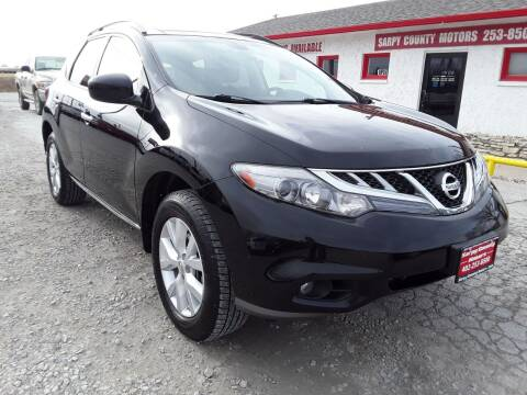 2011 Nissan Murano for sale at Sarpy County Motors in Springfield NE