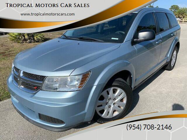 2013 Dodge Journey for sale at Tropical Motors Car Sales in Deerfield Beach FL