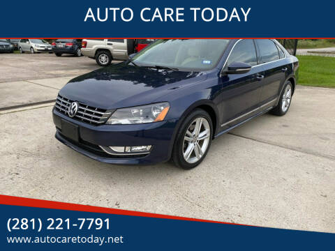 2012 Volkswagen Passat for sale at AUTO CARE TODAY in Spring TX