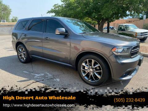 2014 Dodge Durango for sale at High Desert Auto Wholesale in Albuquerque NM