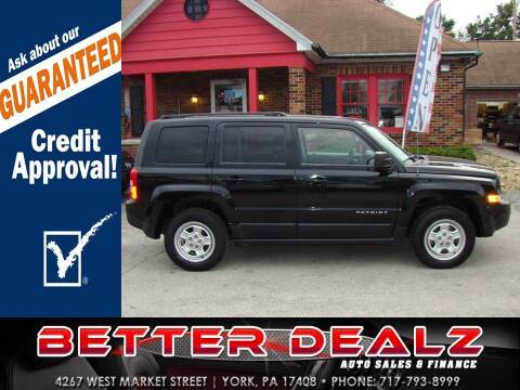 2015 Jeep Patriot for sale at Better Dealz Auto Sales & Finance in York PA