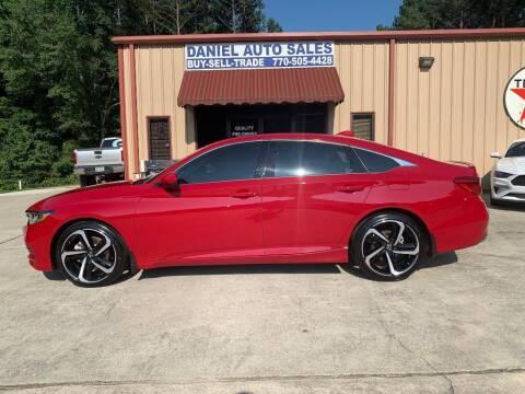 2020 Honda Accord for sale at Daniel Used Auto Sales in Dallas GA
