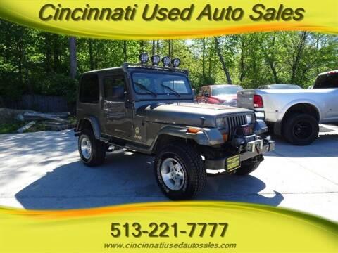 1990 Jeep Wrangler for sale at Cincinnati Used Auto Sales in Cincinnati OH