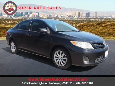 2012 Toyota Corolla for sale at Super Auto Sales in Las Vegas NV