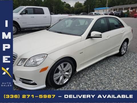 2012 Mercedes-Benz E-Class for sale at Impex Auto Sales in Greensboro NC