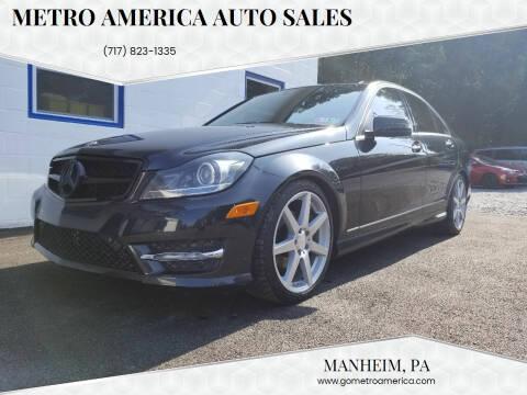 2012 Mercedes-Benz C-Class for sale at METRO AMERICA AUTO SALES of Manheim in Manheim PA
