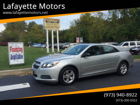 2013 Chevrolet Malibu for sale at Lafayette Motors 2 in Andover NJ