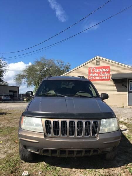 2002 Jeep Grand Cherokee for sale at DAVINA AUTO SALES in Orlando FL