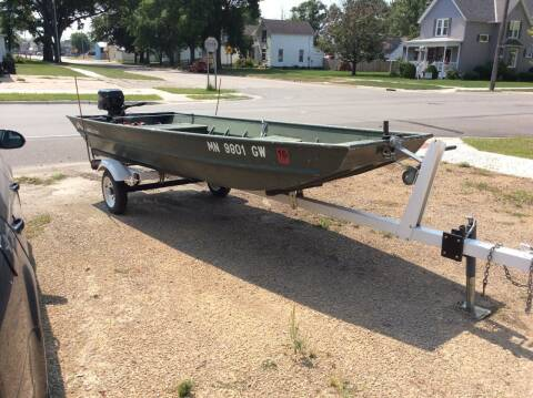 2014 Alumacraft johnboat for sale at Kimpton Auto Sales in Wells MN