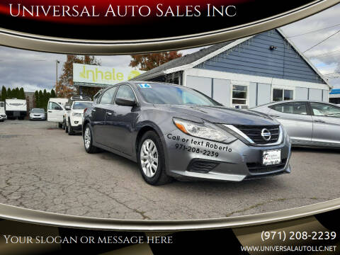2016 Nissan Altima for sale at Universal Auto Sales Inc in Salem OR