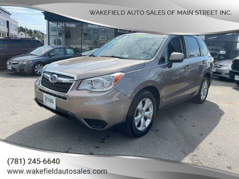 2014 Subaru Forester for sale at Wakefield Auto Sales of Main Street Inc. in Wakefield MA