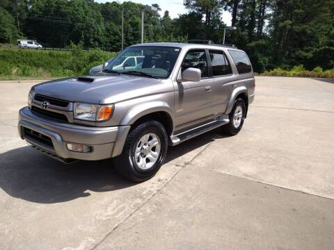 2002 Toyota 4Runner for sale at A&Q Auto Sales in Gainesville GA