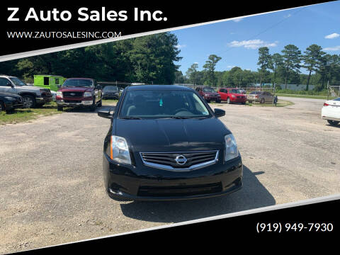 2011 Nissan Sentra for sale at Z Auto Sales Inc. in Rocky Mount NC