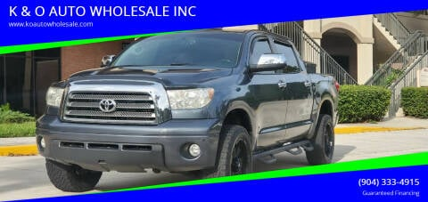 2007 Toyota Tundra for sale at K & O AUTO WHOLESALE INC in Jacksonville FL
