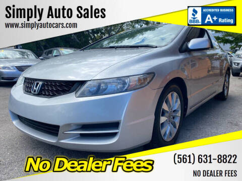 2010 Honda Civic for sale at Simply Auto Sales in Palm Beach Gardens FL