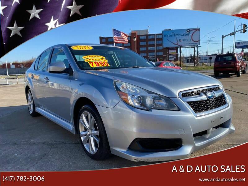 2013 Subaru Legacy for sale at A & D Auto Sales in Joplin MO