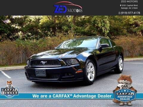 2014 Ford Mustang for sale at Zed Motors in Raleigh NC