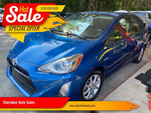 2015 Toyota Prius c for sale at Cherokee Auto Sales in Acworth GA