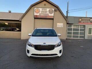2016 Kia Sedona for sale at Utah Credit Approval Auto Sales in Murray UT
