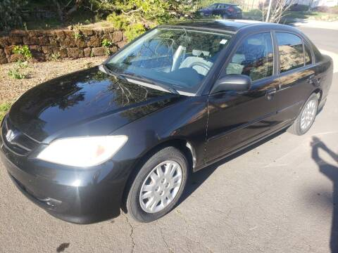 2005 Honda Civic for sale at KC Cars Inc. in Portland OR