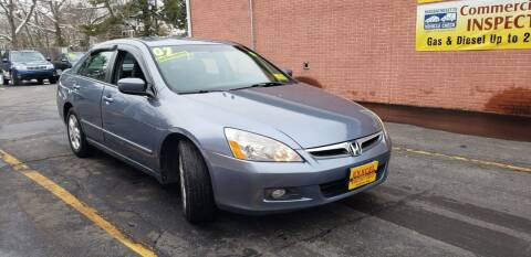 2007 Honda Accord for sale at Exxcel Auto Sales in Ashland MA