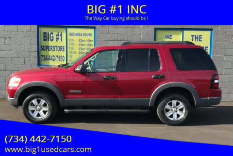 2006 Ford Explorer for sale at BIG #1 INC in Brownstown MI
