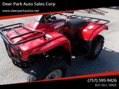 2000 Honda Recon for sale at Deer Park Auto Sales Corp in Newport News VA
