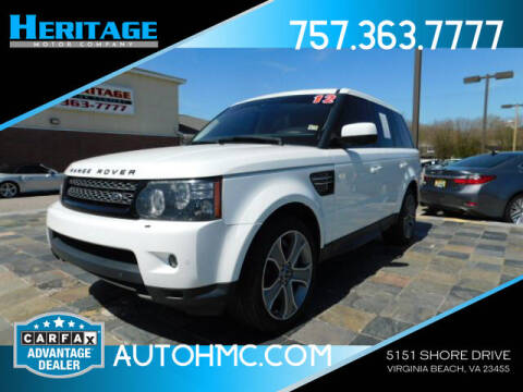 2012 Land Rover Range Rover Sport for sale at Heritage Motor Company in Virginia Beach VA