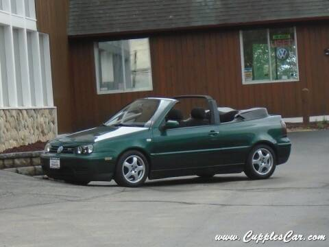 2001 Volkswagen Cabrio for sale at Cupples Car Company in Belmont NH