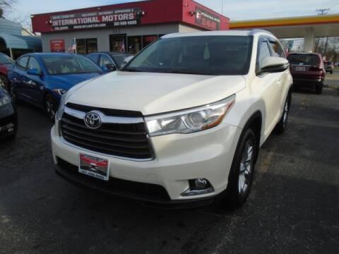 2016 Toyota Highlander for sale at International Motors in Laurel MD