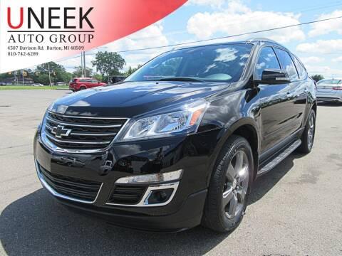 2017 Chevrolet Traverse for sale at Uneek Auto Group LLC in Burton MI