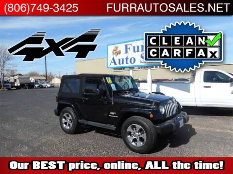 2016 Jeep Wrangler for sale at FURR AUTO SALES in Lubbock TX