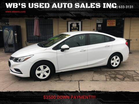 2017 Chevrolet Cruze for sale at WB'S USED AUTO SALES INC in Houston TX