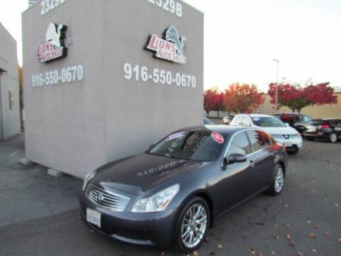 2007 Infiniti G35 for sale at LIONS AUTO SALES in Sacramento CA
