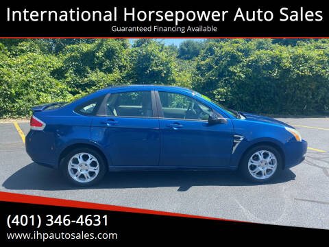 2008 Ford Focus for sale at International Horsepower Auto Sales in Warwick RI